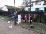 výsadba švestek v obci